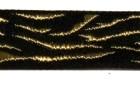 10m Borte Webband Muster Zebra 16mm breit Farbe: Schwarz-Gold