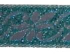 10m Mittelalter Borte Webband 16mm breit Farbe: Lurex-Türkis