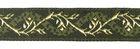 10m Jacquard Borte Webband 16mm breit Farbe: Moosgrün-Gold