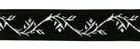 10m Jacquard Borte Webband 16mm breit Farbe: Schwarz-Silber