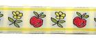 10m Blumen Borte Webband Wiesn 16mm breit Farbe: Beige-Gelb