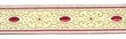 10m Brokat Borte Webband 16mm breit Farbe: Weiss-Rot-Lurexgold