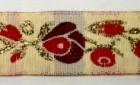 10m Borte Blumen 17mm breit Farbe: Rot-Weiss-Gold