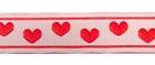 10m Borte Webband 11mm breit Herzen Farbe: Rot