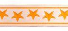 10m Borte Webband 11mm breit Sterne Farbe: Orange