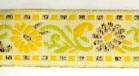 10m Borte Blumen 17mm breit Farbe: Gelb-Weiss-Gold