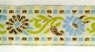 10m Borte Blumen 17mm breit Farbe: Hellblau-Weiss-Gold