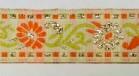 10m Borte Blumen 17mm breit Farbe: Orange-Weiss-Gold