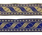 10m Mittelalterborte Webband 20mm breit Farbe: Blau-Beige