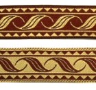 10m Mittelalterborte Webband 20mm breit Farbe: Bordeaux-Beige