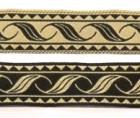 10m Mittelalterborte Webband 20mm breit Farbe: Schwarz-Beige