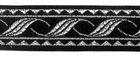 10m MittelalterBorte Webband 20mm breit Farbe: Schwarz-Silber