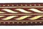 10m MittelalterBorte Webband 20mm breit Farbe: Bordeaux-Gold