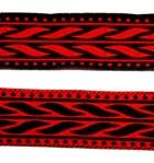 10m MittelalterBorte Webband 20mm breit Farbe: Schwarz-Rot