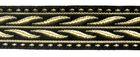 10m MittelalterBorte Webband 20mm breit Farbe: Schwarz-Gold