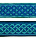 10m Mittelalter Borte 20mm breit Farbe: Blau-Türkis