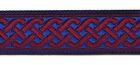 10m Mittelalter Borte Webband 20mm breit Farbe: Blau-Rot