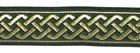 10m Mittelalter Borte Webband 20mm breit Farbe: Dunkelgrün-Gold