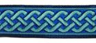 10m Mittelalter Borte 20mm breit Farbe: Dunkelblau-Türkis