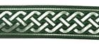 10m Mittelalter Borte 20mm breit Farbe: Dunkelgrün-Silber