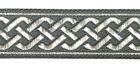 10m Mittelalter Borte Webband 20mm breit Farbe: Dunkelgrau