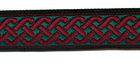 10m Mittelalter Borte Webband 20mm breit Farbe: Grün-Rot