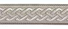 10m Mittelalter Borte Webband 20mm breit Farbe: Grau