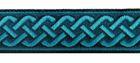 10m Mittelalter Borte 20mm breit Farbe: Petrol-Türkis