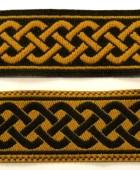 10m Mittelalter Borte 20mm breit Farbe: Schwarz-Senf