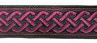 10m Mittelalter Borte 20mm breit Farbe: Schwarz-Bordeaux