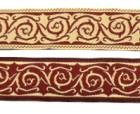 10m keltische Borte Webband 20mm breit Farbe: Bordeaux-Beige