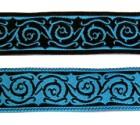 10m keltische Borte Webband 20mm breit Farbe: Schwarz-Blau