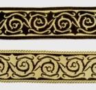 10m keltische Borte Webband 20mm breit Farbe: Schwarz-Beige