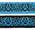 10m Mittelalterborte Webband 20mm breit Farbe: Schwarz-Blau