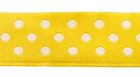 10m Webband Borte Applikation 12mm breit Punkte Farbe: Gelb