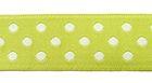 10m Webband Borte Applikation 12mm breit Punkte Farbe: Hellgrün