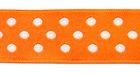 10m Webband Borte Applikation 12mm breit Punkte Farbe: Orange