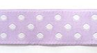10m Webband Borte Applikation 12mm breit Punkte Farbe: Violett