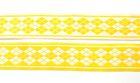 10m Webband Borte Applikation 20mm breit Burlington Farbe: Gelb-Weiss