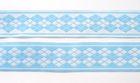 10m Webband Borte Applikation 20mm breit Burlington Farbe: Hellblau-Weiss