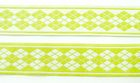 10m Webband Borte Applikation 20mm breit Burlington Farbe: Hellgrün-Weiss