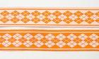 10m Webband Borte Applikation 20mm breit Burlington Farbe: Orange-Weiss