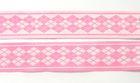 10m Webband Borte Applikation 20mm breit Burlington Farbe: Rosa-Weiss