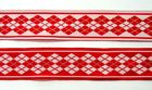 10m Webband Borte Applikation 20mm breit Burlington Farbe: Rot-Weiss