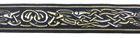 10m Mittelalter Borte Webband 22mm breit Farbe: Dunkelblau-Gold-Silber