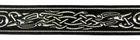 10m Mittelalter Borte Webband 22mm Farbe: Schwarz-Silber