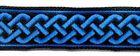 10m Mittelalter Borte Webband 20mm breit Farbe: Blau
