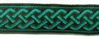 10m Mittelalter Borte Webband 20mm breit Farbe: Grün