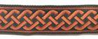 10m Mittelalter Borte Webband 20mm breit Farbe: Terracotta
