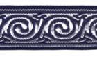 10m Celtic-Borte Webband 22mm breit Farbe: Dunkelblau-Silber